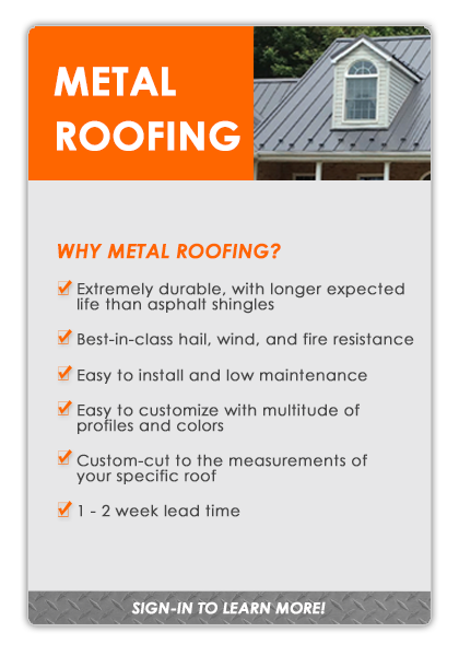 METAL ROOFING - Sign in to learn more!